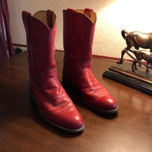 Ladies red Justin  roper boots